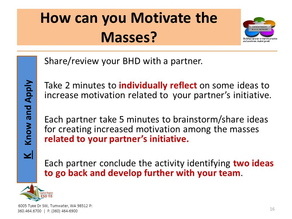 How can you Motivate the Masses