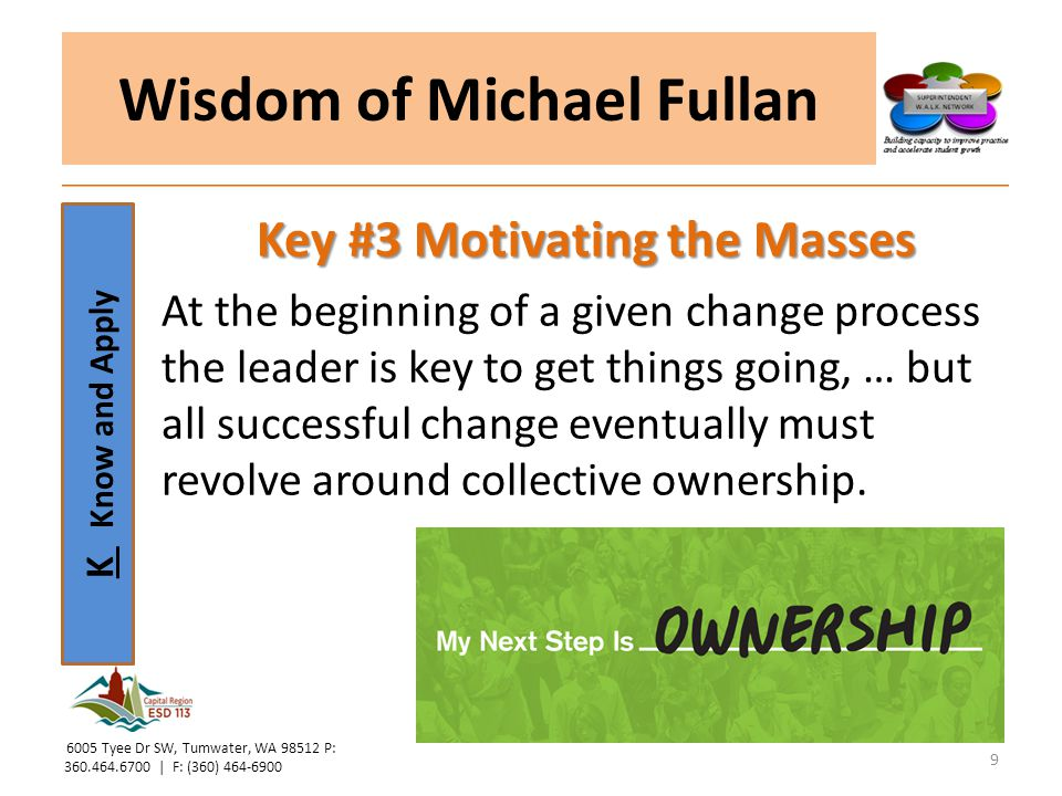 Wisdom of Michael Fullan