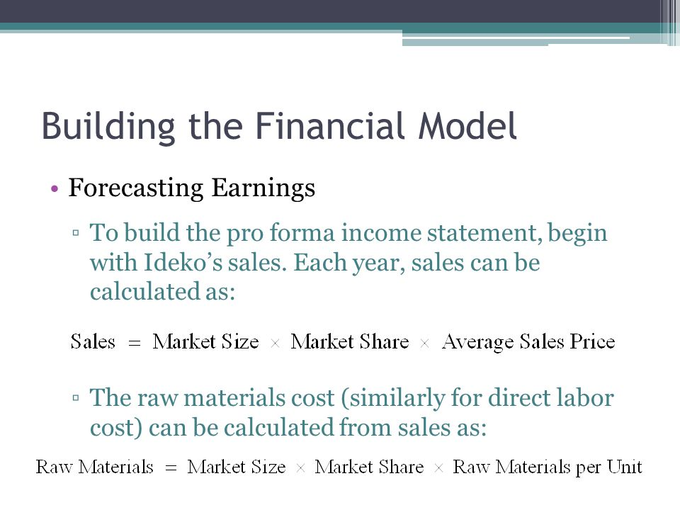 Building the Financial Model