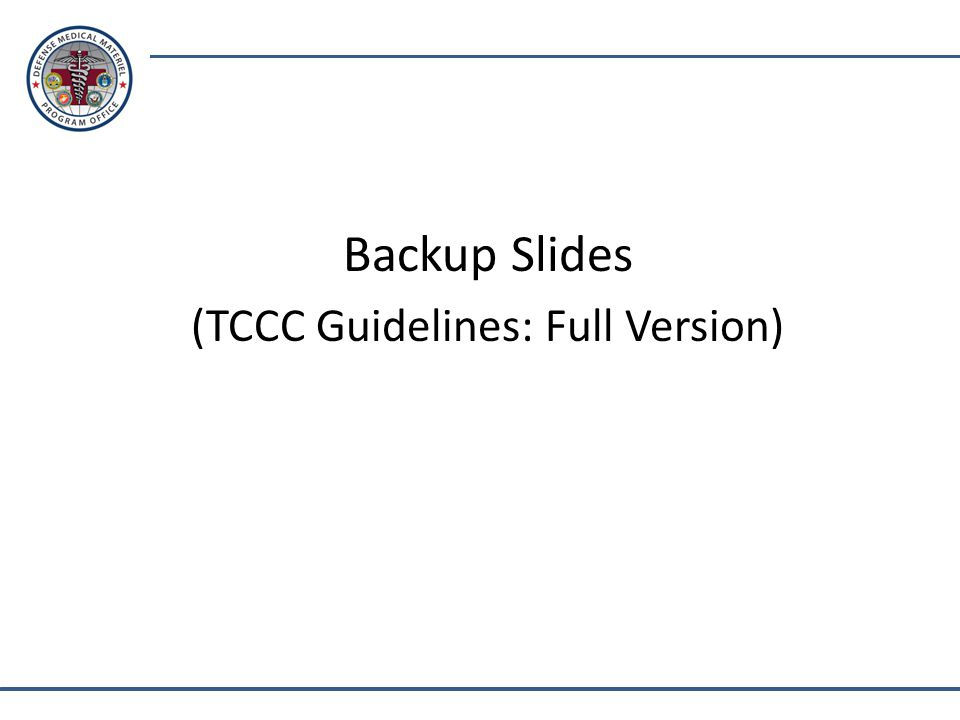(TCCC Guidelines: Full Version)