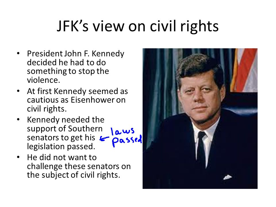 JFK's view on civil rights