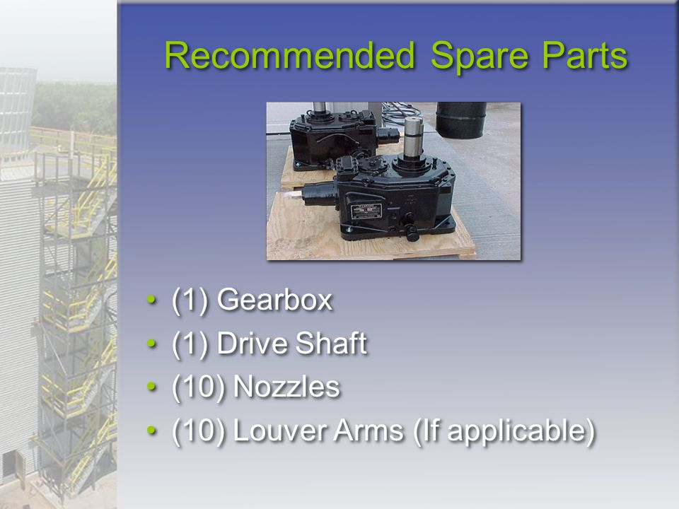 Recommended Spare Parts