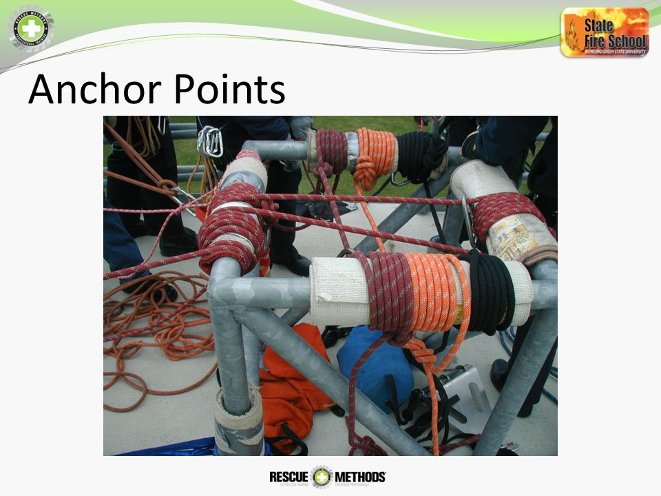 Anchor Points Tensionless Hitches / High strength Tie Offs with Back Ties