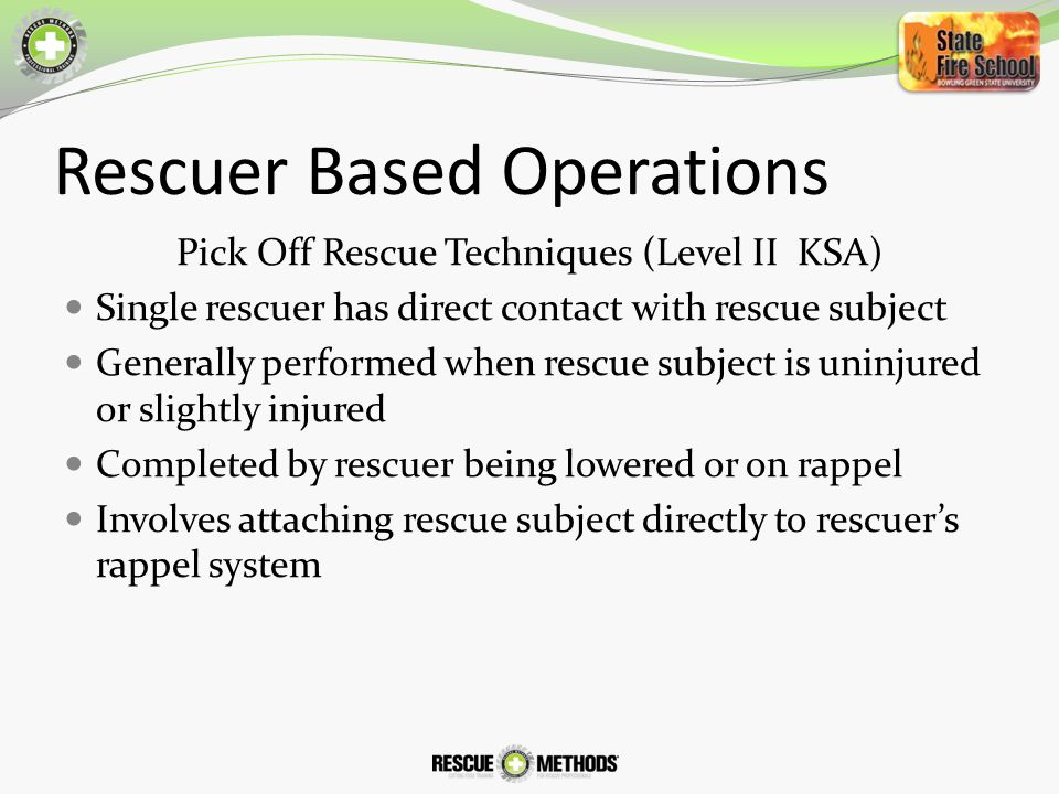 Rescuer Based Operations