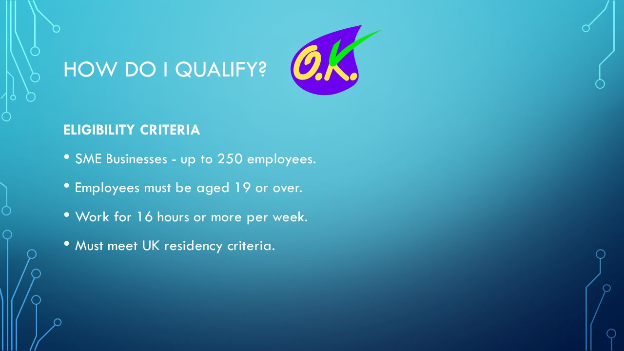 How do I qualify ELIGIBILITY CRITERIA