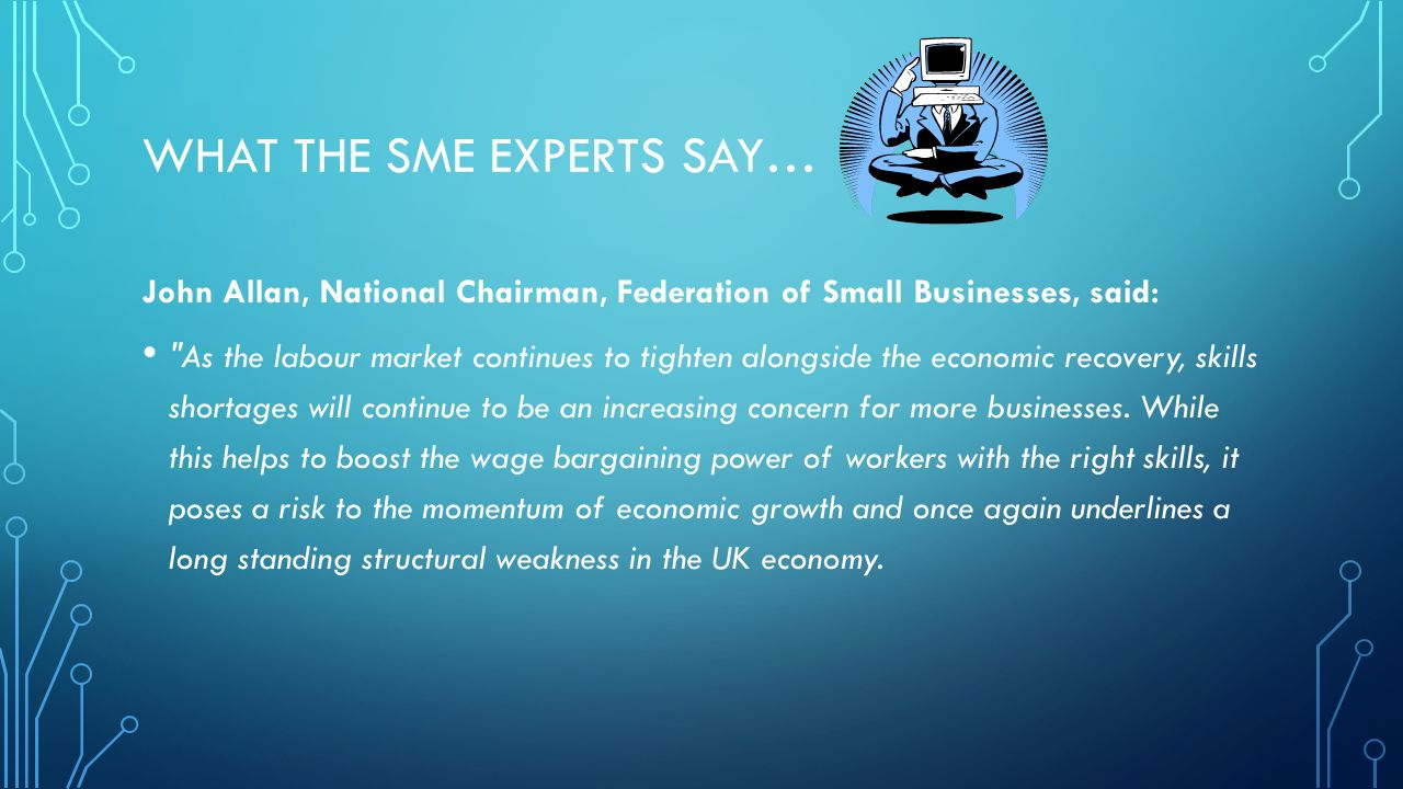 What the SME EXPERts say…