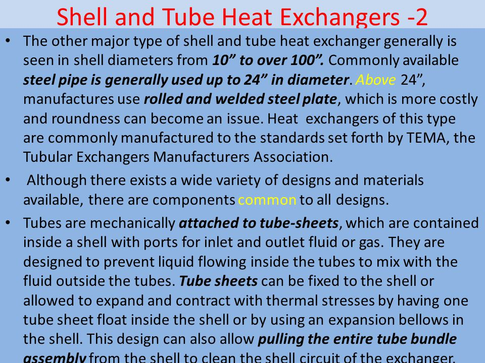 Shell and Tube Heat Exchangers -2