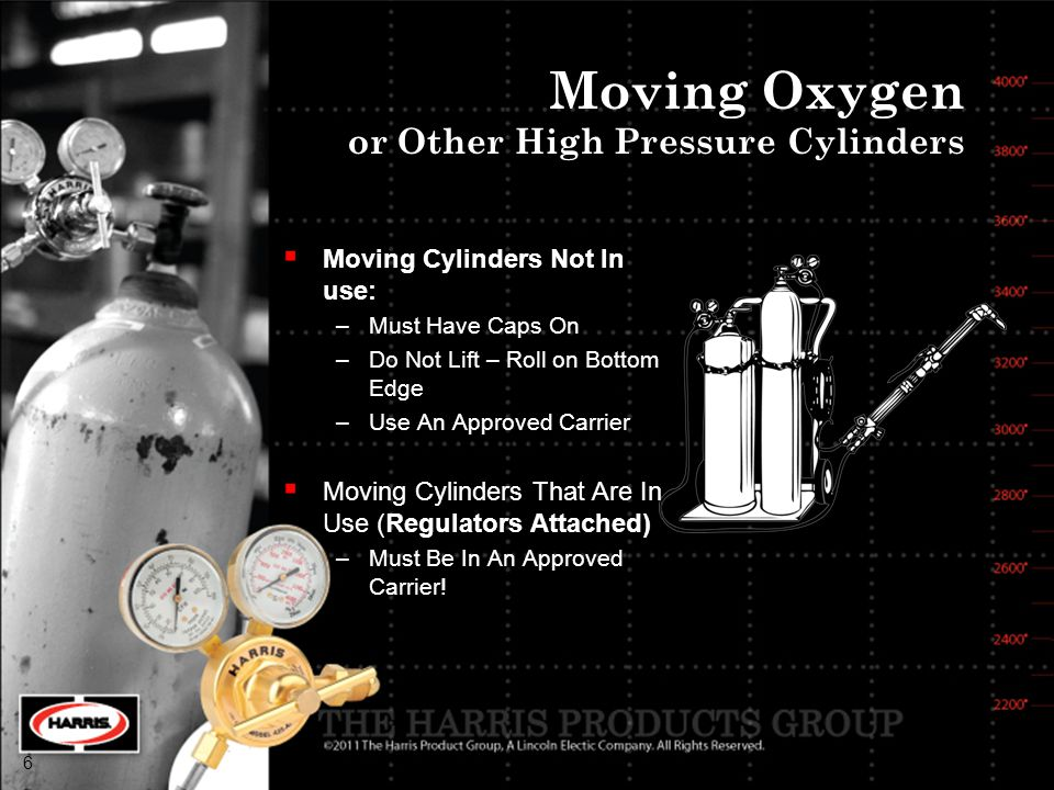 Moving Oxygen or Other High Pressure Cylinders