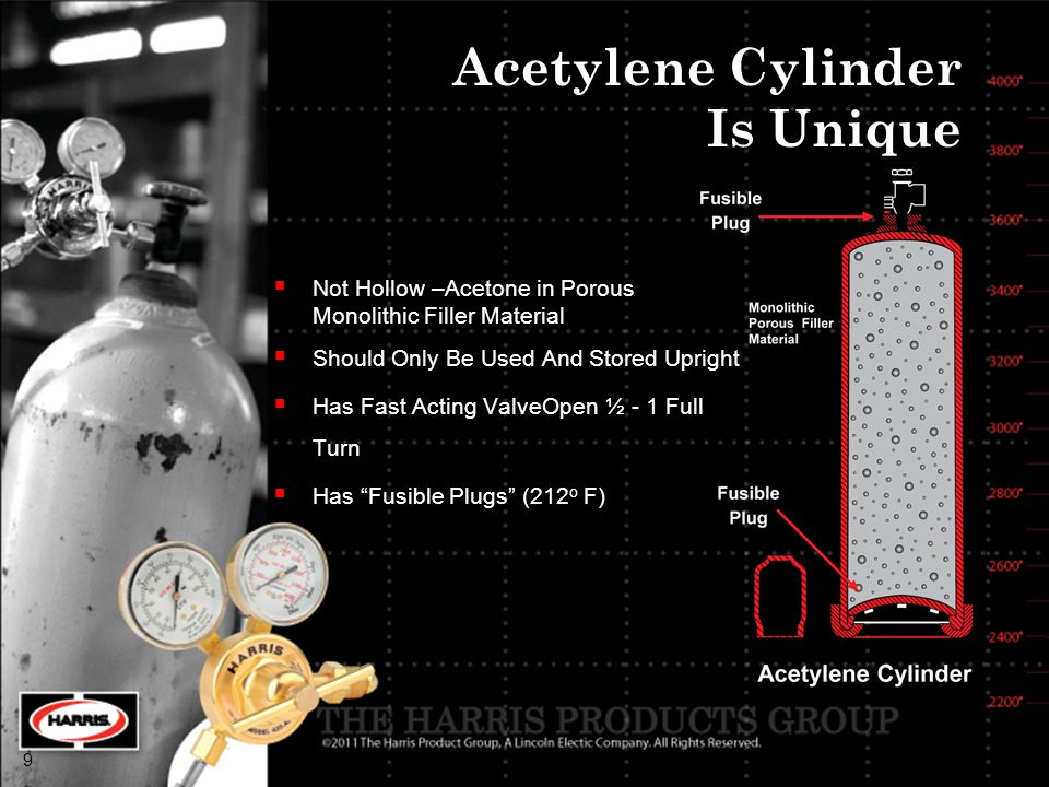 Acetylene Cylinder Is Unique