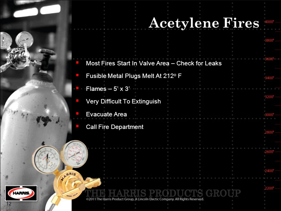 Acetylene Fires Most Fires Start In Valve Area – Check for Leaks