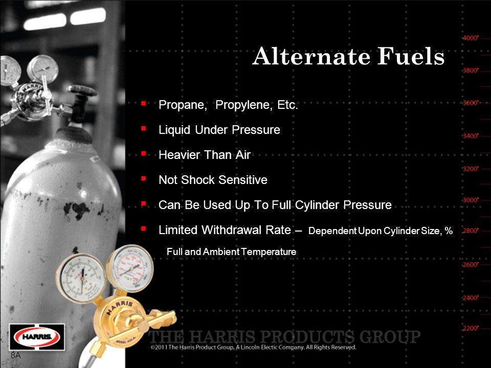 Alternate Fuels Propane, Propylene, Etc. Liquid Under Pressure