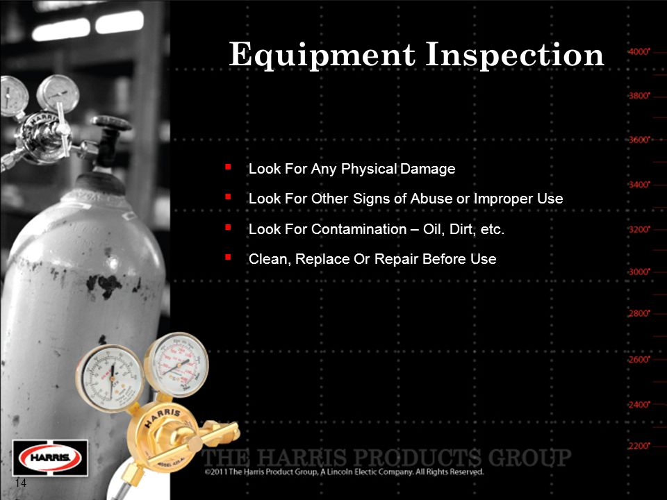 Equipment Inspection Look For Any Physical Damage