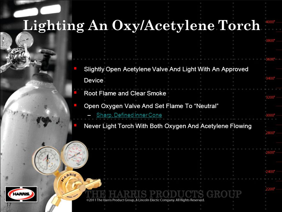 Lighting An Oxy/Acetylene Torch
