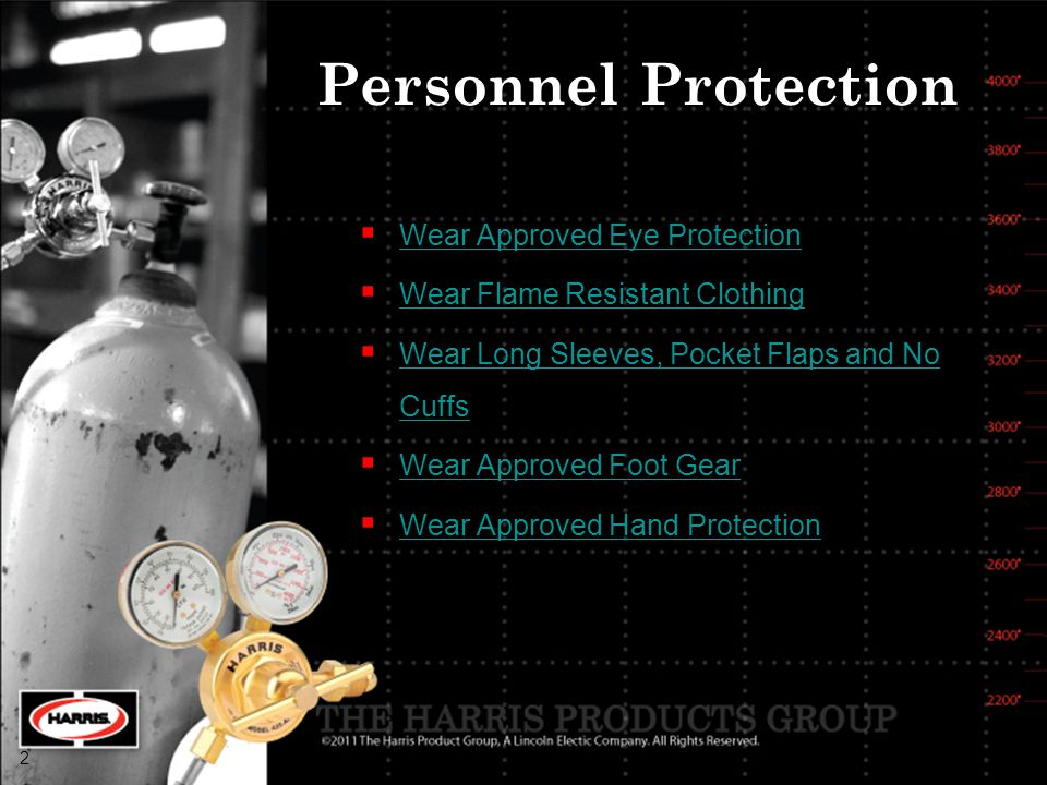 Personnel Protection Wear Approved Eye Protection