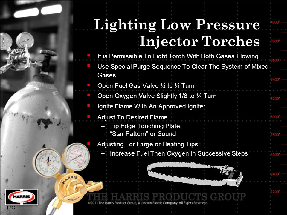 Lighting Low Pressure Injector Torches