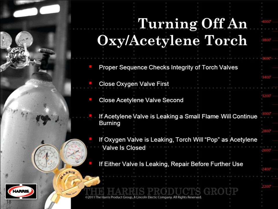Turning Off An Oxy/Acetylene Torch