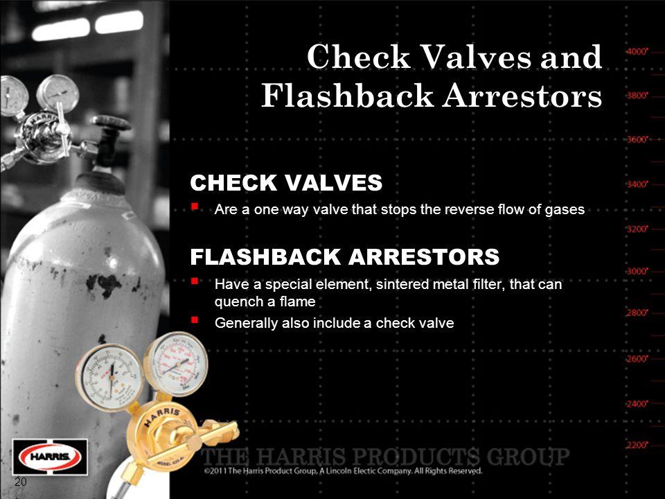 Check Valves and Flashback Arrestors