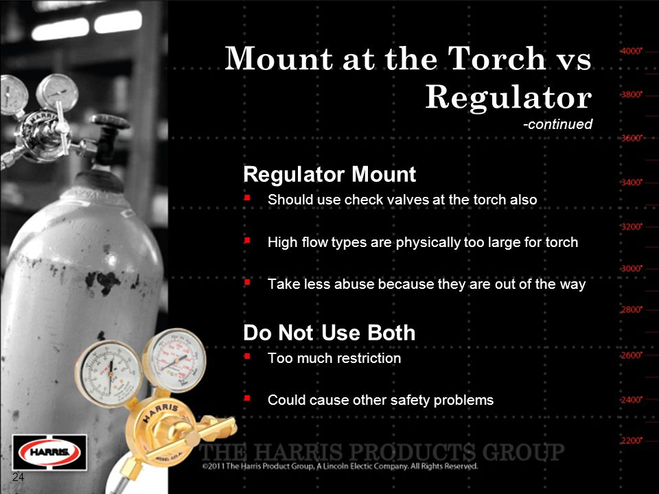 Mount at the Torch vs Regulator -continued