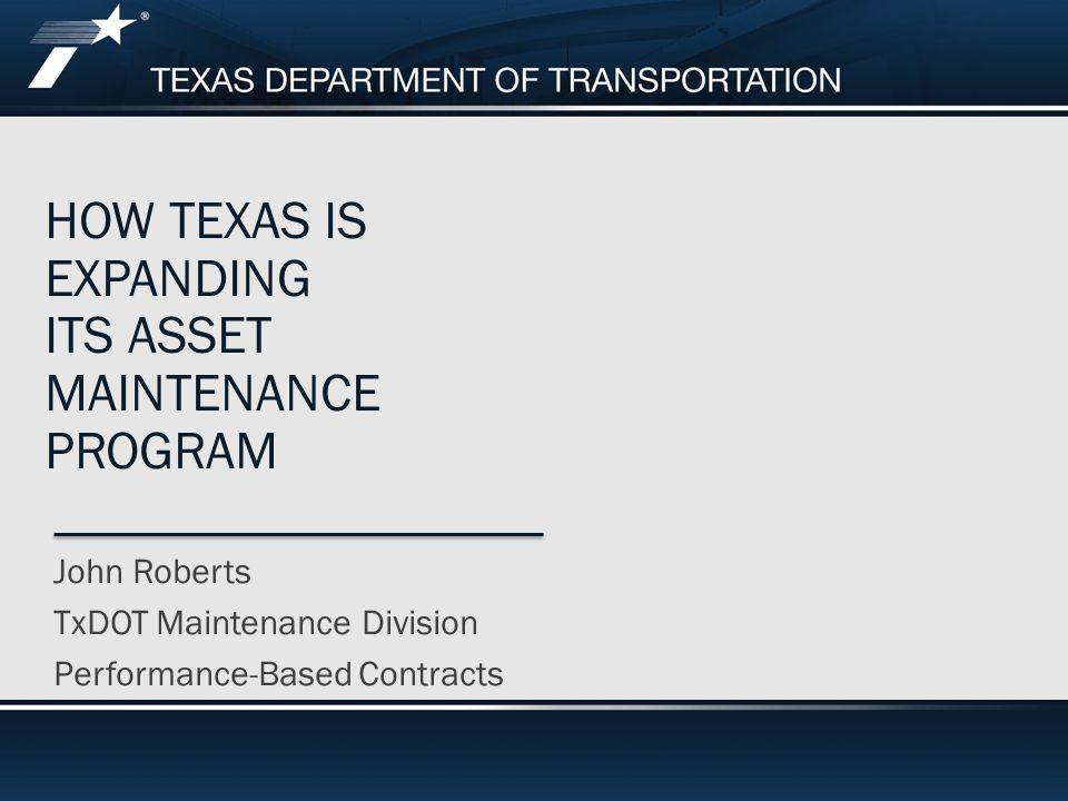 How texas is expanding its asset Maintenance program