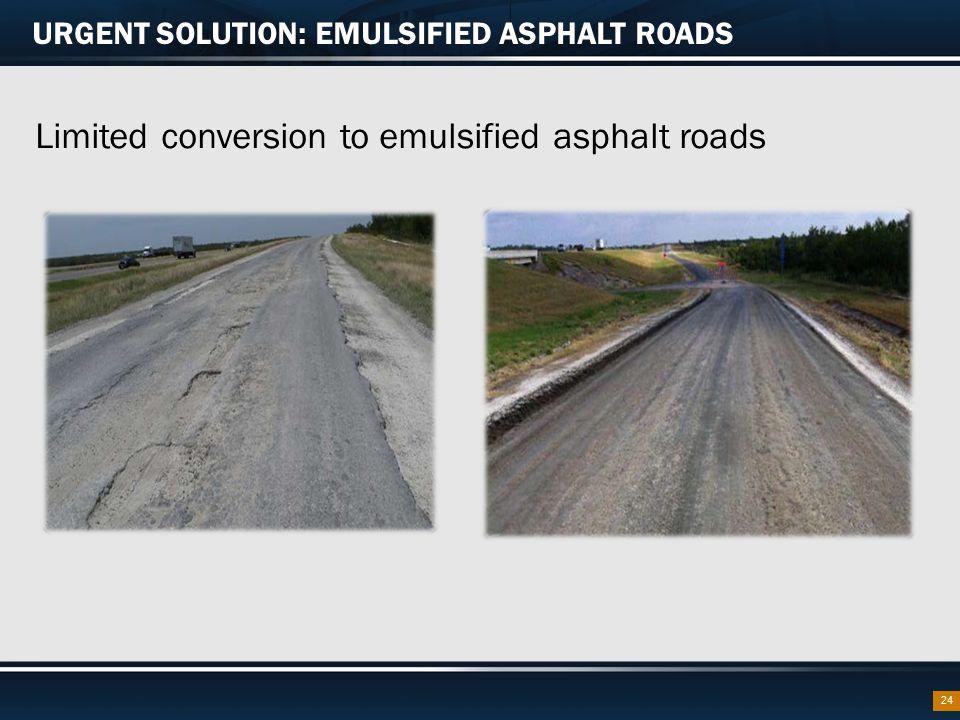 URGENT SOLUTION: EMULSIFIED ASPHALT ROADS