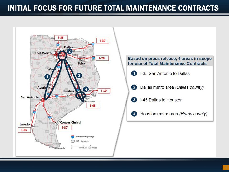 INITIAL FOCUS FOR FUTURE TOTAL MAINTENANCE CONTRACTS