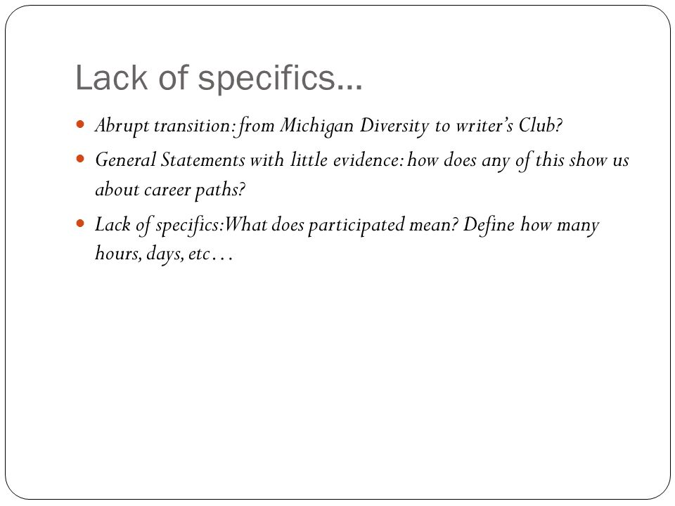 the bad college essay ppt video online abrupt transition from michigan diversity to writer s club