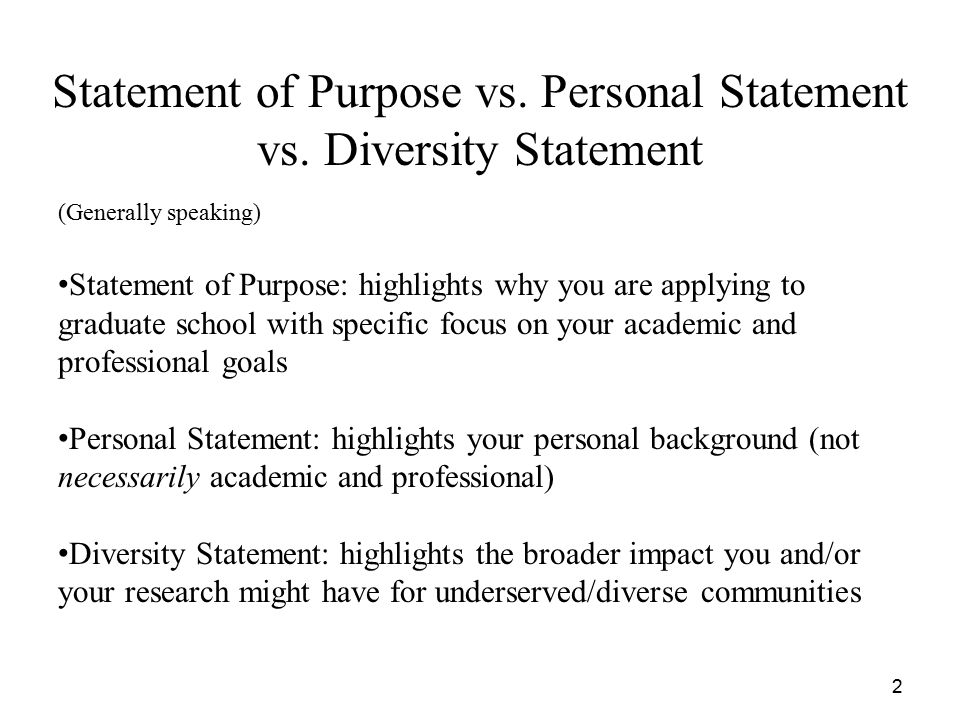 Personal goal statement graduate school examples for Diversity policy template