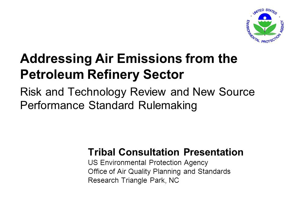 Addressing Air Emissions from the Petroleum Refinery Sector