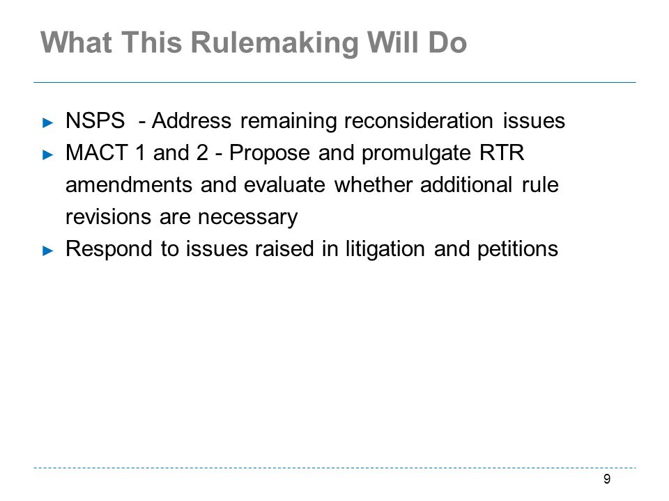 What This Rulemaking Will Do