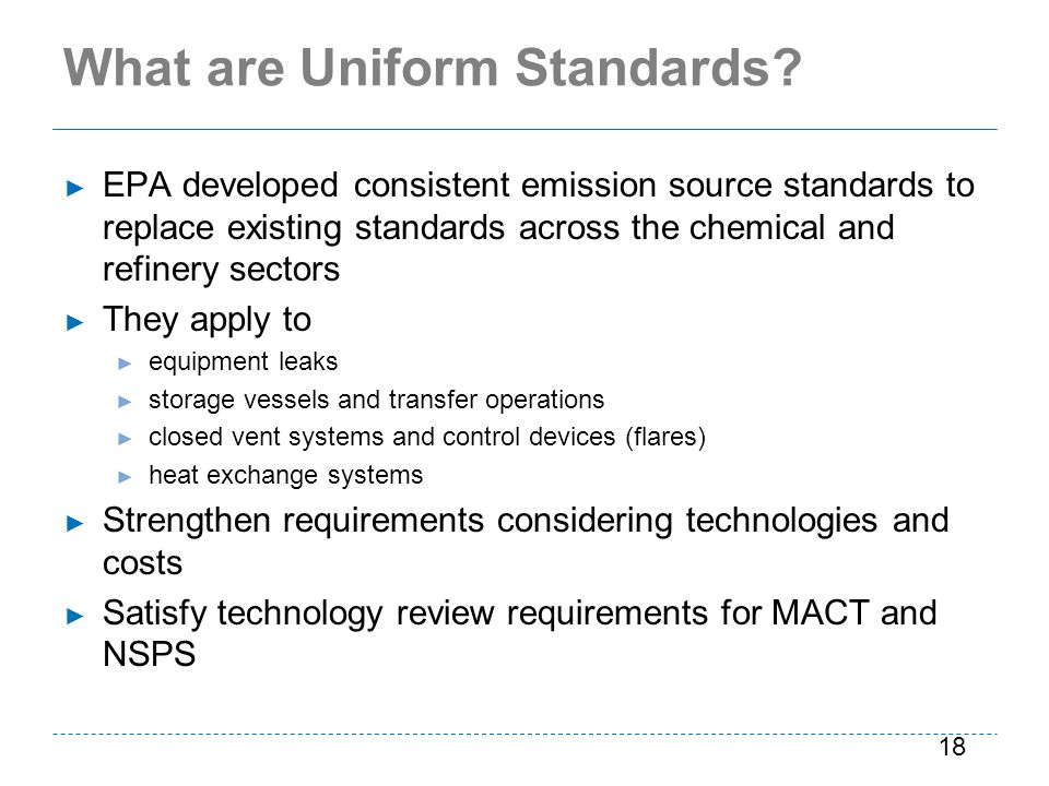 What are Uniform Standards