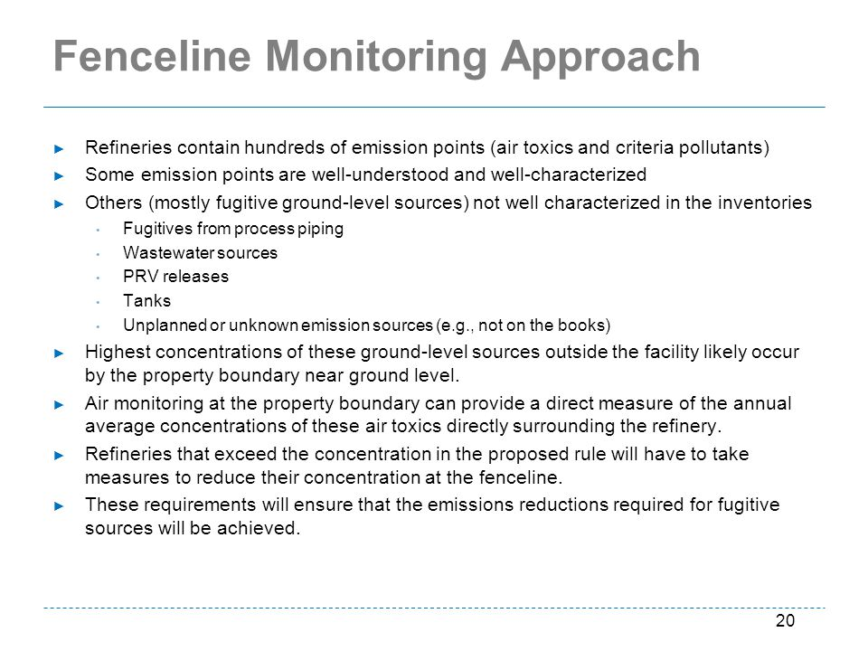 Fenceline Monitoring Approach