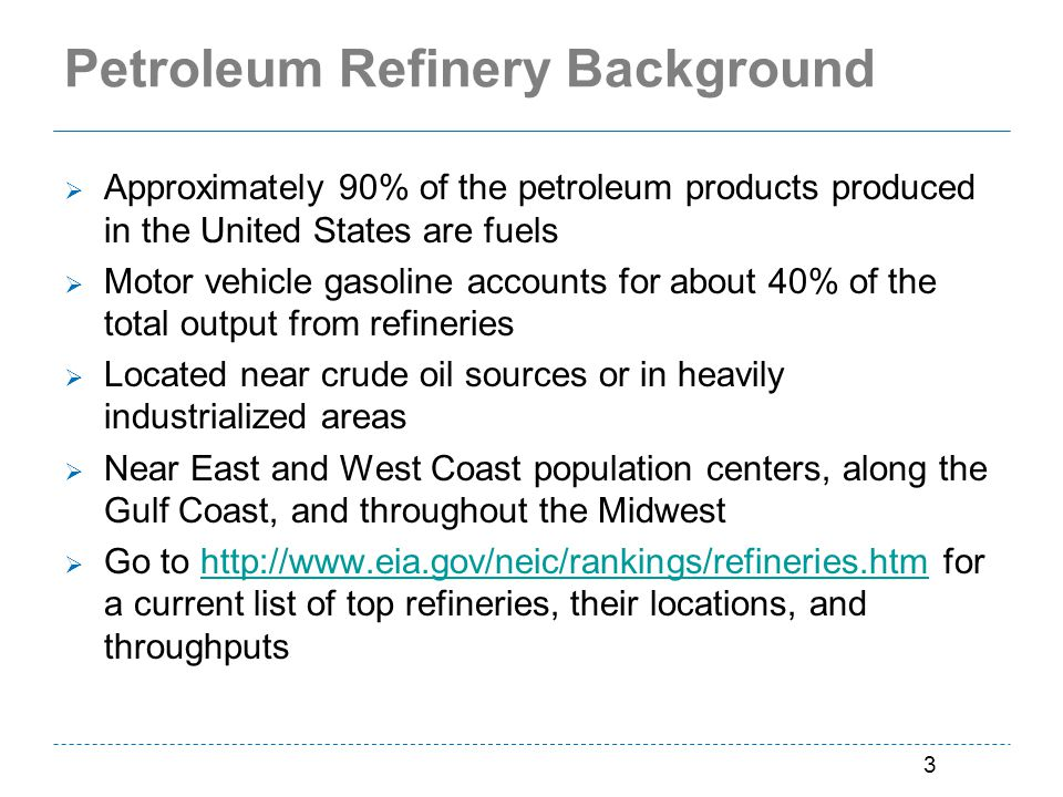 Petroleum Refinery Background