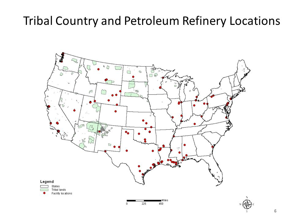 Tribal Country and Petroleum Refinery Locations