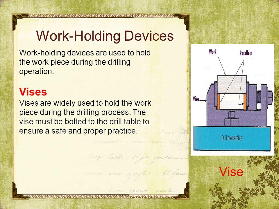 Work-Holding Devices Vise Vises