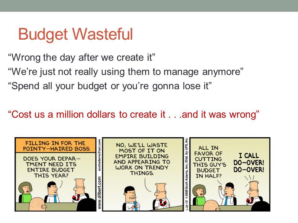 Budget Wasteful