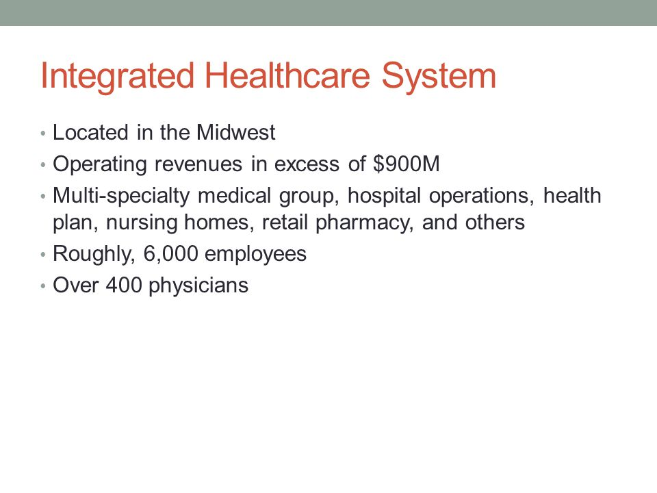 Integrated Healthcare System