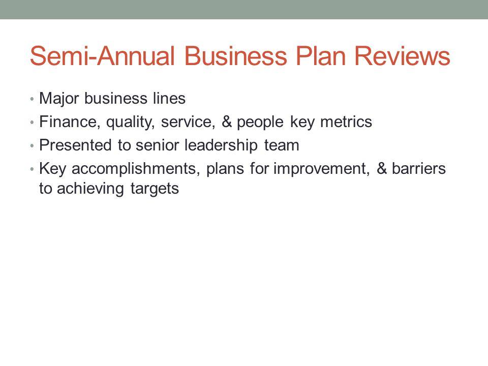 Semi-Annual Business Plan Reviews