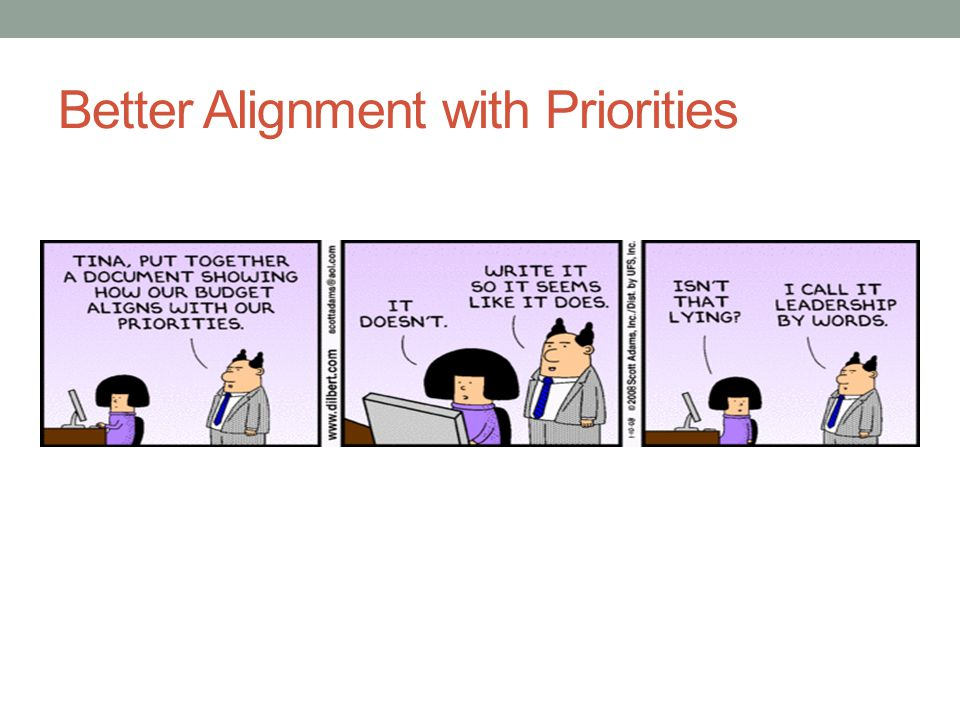 Better Alignment with Priorities