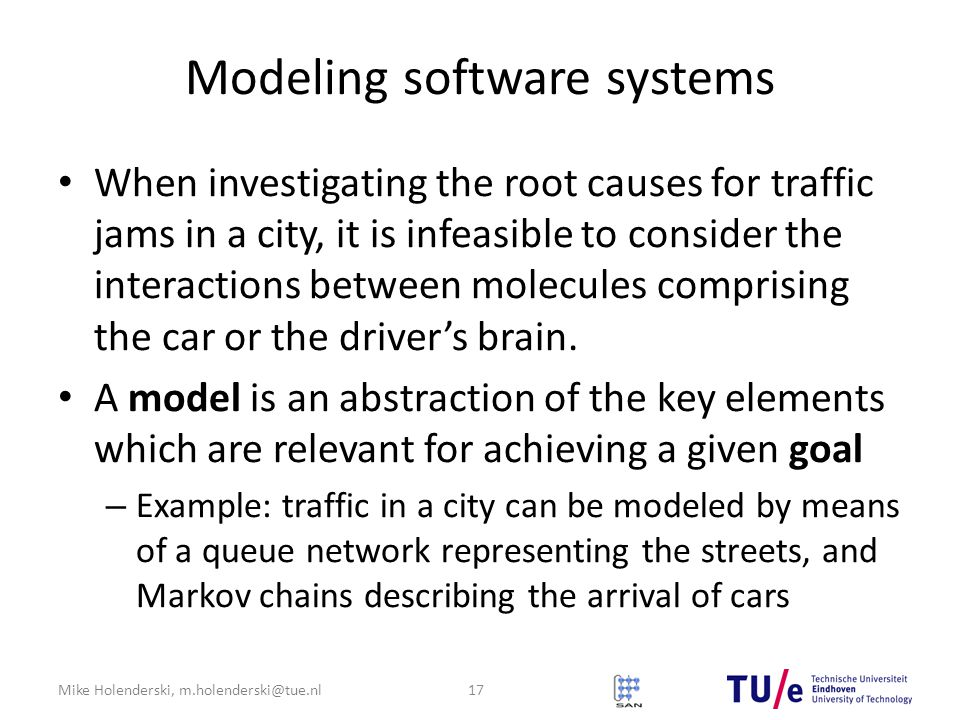 Modeling software systems
