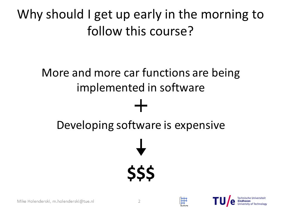 Why should I get up early in the morning to follow this course