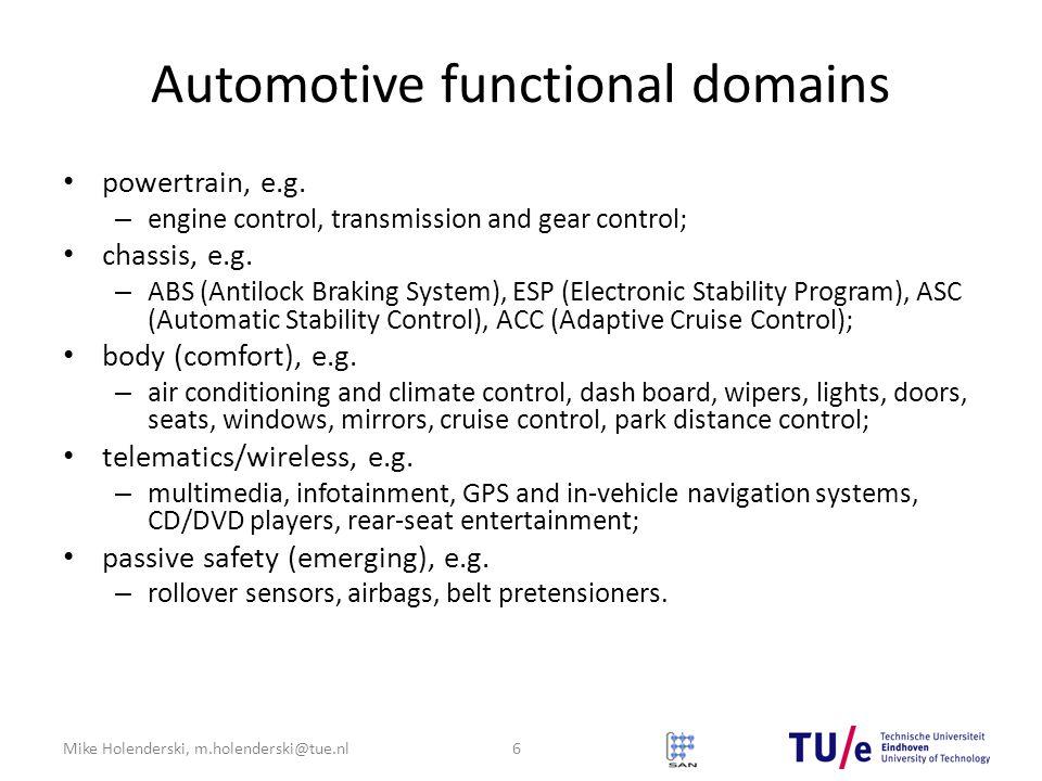 Automotive functional domains