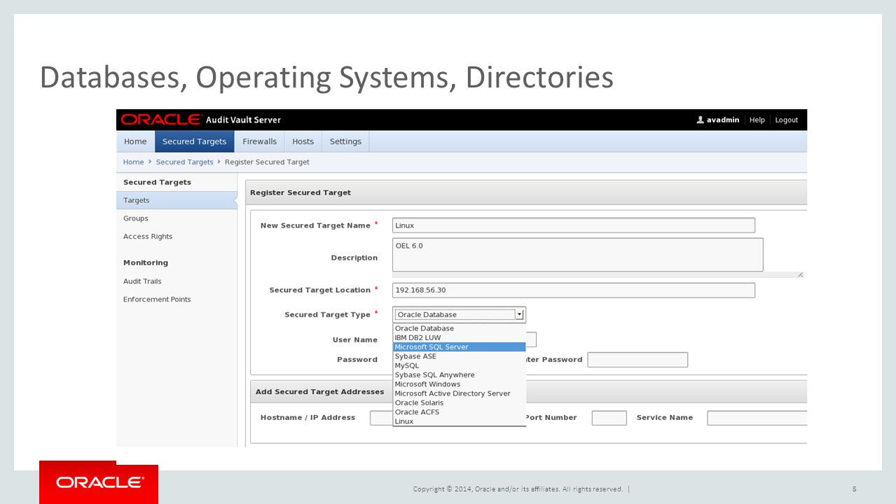 Databases, Operating Systems, Directories