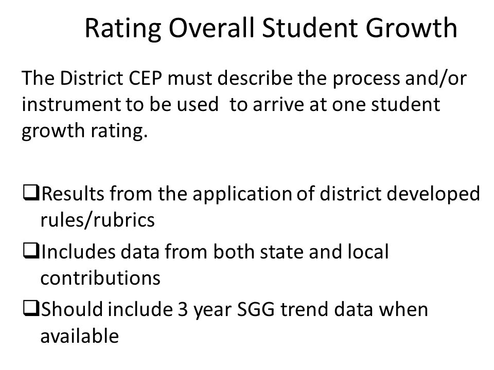 Rating Overall Student Growth
