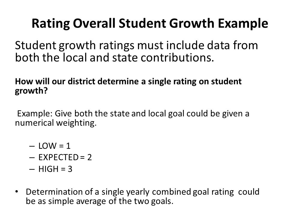 Rating Overall Student Growth Example