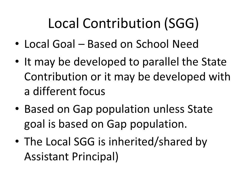 Local Contribution (SGG)
