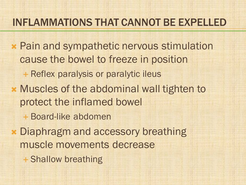 Inflammations That Cannot Be Expelled