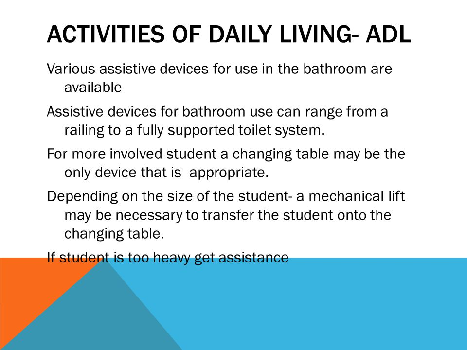 Activities of Daily Living- ADL