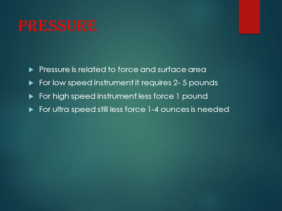 Pressure Pressure is related to force and surface area