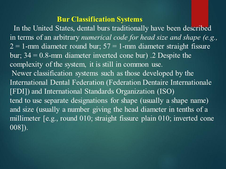 Bur Classification Systems
