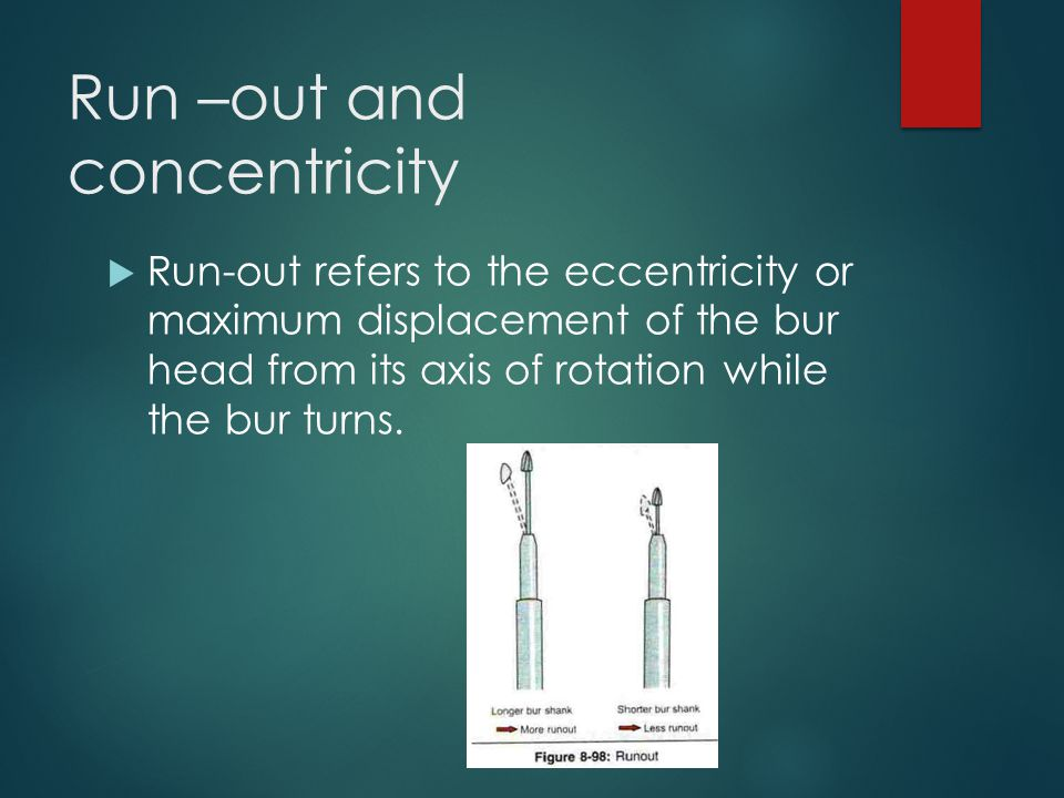 Run –out and concentricity